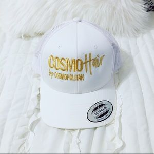 Rare Cosmopolitan Magazine Hair Hat White